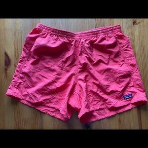Patagonia pink hiking running shorts L